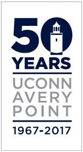 Official logo for Avery Point's 50th year celebrations