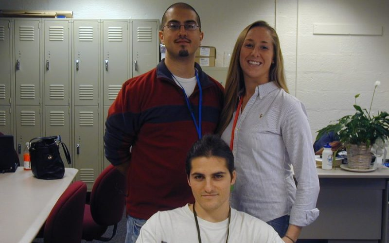 Students Cory Mastrandrea, Sean Pillars, and Jill Cruz 2008