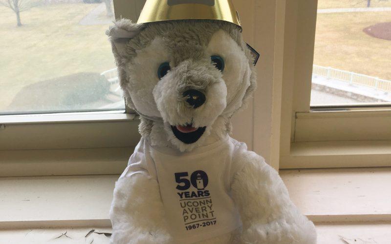 50th celebration stuffed husky
