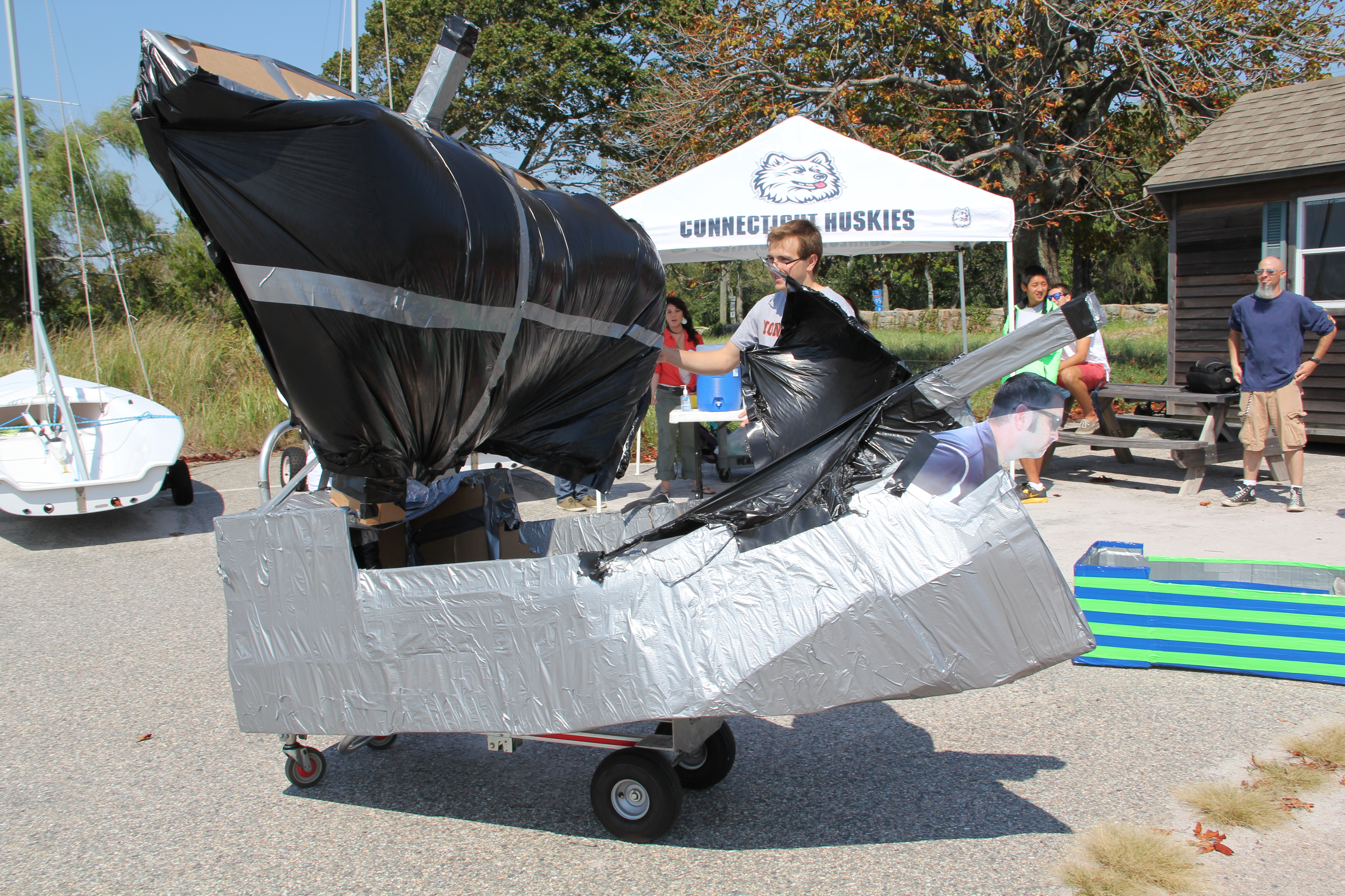 a boat, pre race